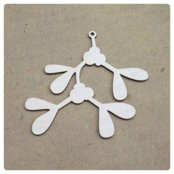 Laser Cut Mistletoe Christmas Decoration - 0326