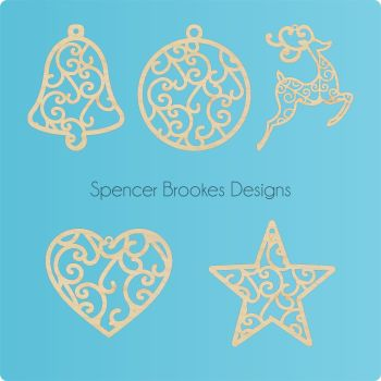 Gorgeous Filigree Christmas Decorations - 0105