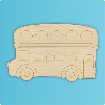Detailed Double Decker London Bus Laser Cutout - 0344
