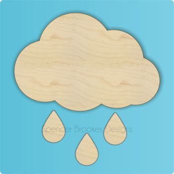Rain Cloud Laser Cut Out
