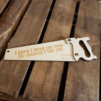 Laser Cut and Engraved Saw
