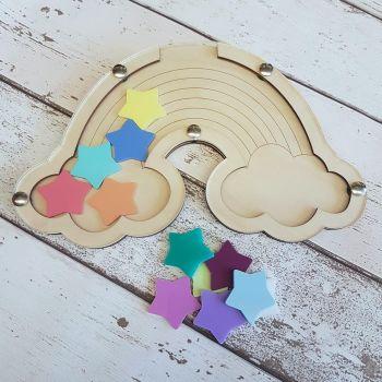 Rainbow Reward Jar with Acrylic Tokens