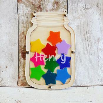**Rewards Jar Kit ** - Basic Jar with ACRYLIC Tokens - PERSONALISED