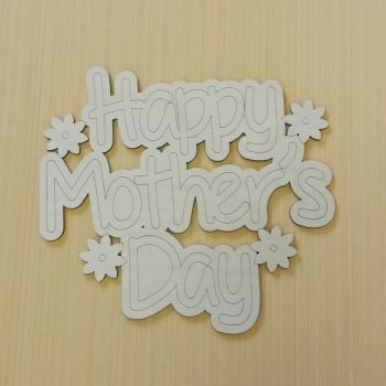 Floral Happy Mother's Day Plaque - 0359