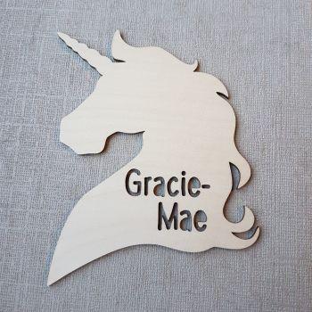 Unicorn Name Plaque - 0368