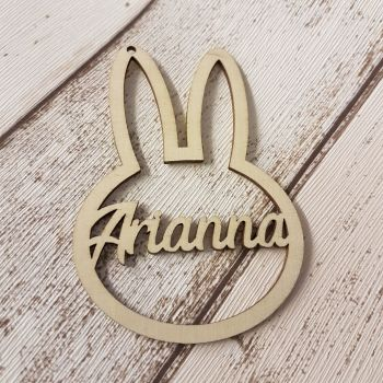 Personalised Bunny Outline Bauble/Tag - 0370
