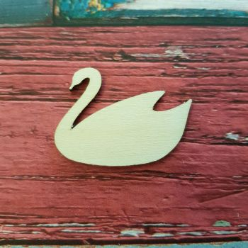 Laser Cut Swan Shape - 0385