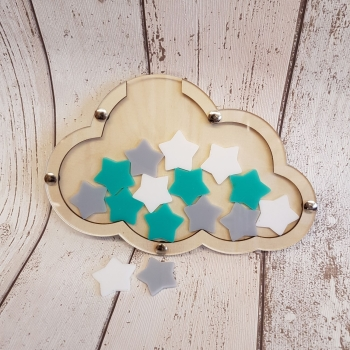Cloud Reward Jar with Acrylic Tokens