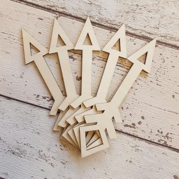 Laser Cut Wooden Arrow 4 - 0397