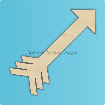 Laser Cut Wooden Arrow 3 - 0398