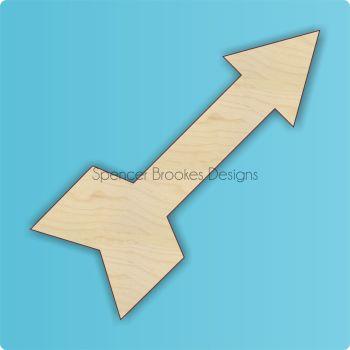 Laser Cut Wooden Arrow 1 - 0399