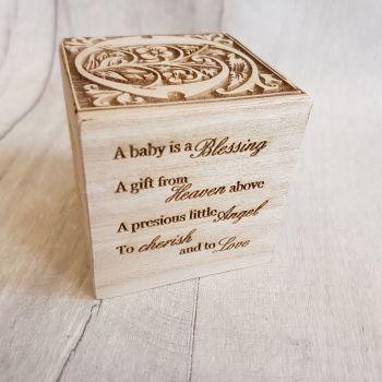 Personalised Wooden Baby Blocks - 0010