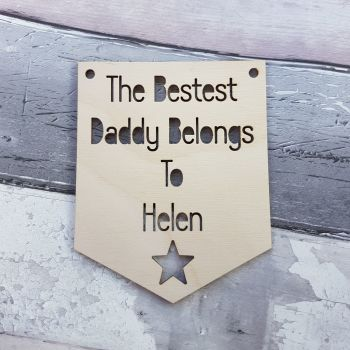 Best Dad Belongs to NAME Pennant - 0407