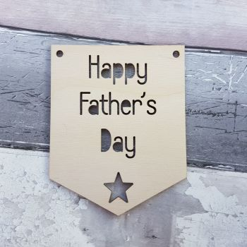 Happy Father's Day Pennant Flag - 0408