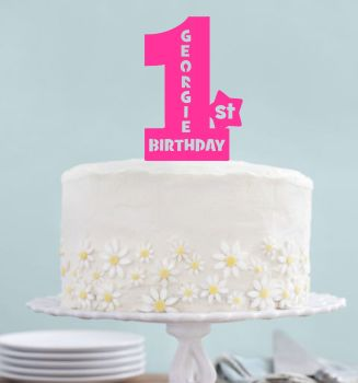 Acrylic Birthday Number Cake Topper PERSONALISED