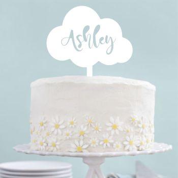 Acrylic Cloud Shape Cake Topper - 0381