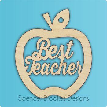 10 PACK OFFER - Best Teacher Cutout