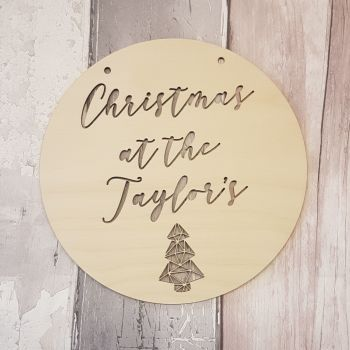 Christmas at Circular Hanger - Swirly Font - 0441