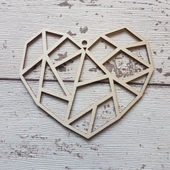 Geometric Christmas Heart - 0445