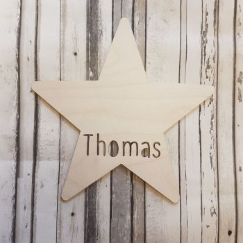 Star Bauble Name Cutout - 0471