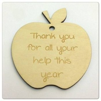 Wooden Apple Cutout