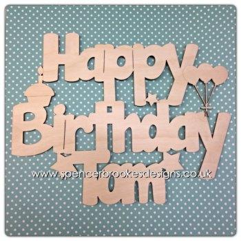 Happy Birthday Cutout - 0076