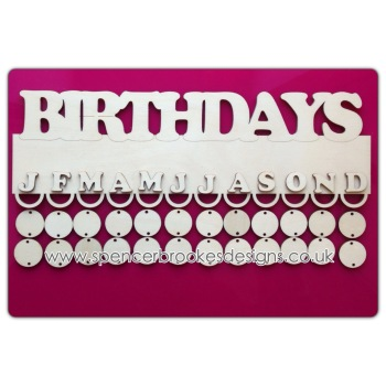 Birthday Hanger with Hanging Loops - 0224