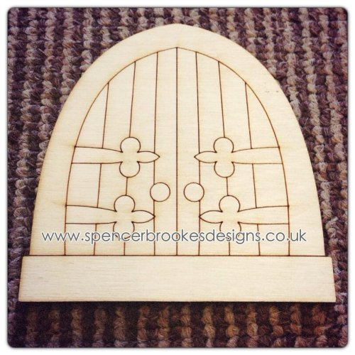 Laser cut wooden shapes and craft shapes laser cut fairy for Fairy door pattern