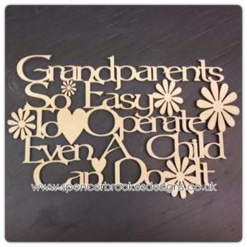 Grandparents Control Plaque