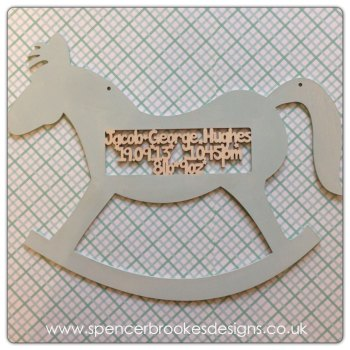 Baby Details Rocking Horse - 0002