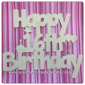 Happy Birthday Cutout With Ages! - 0075