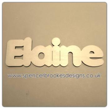Elaine - Laser Cut Letters / Chains