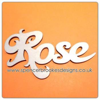 Rose - Laser Cut Letters / Chains