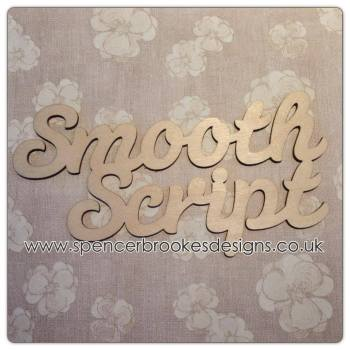 Smooth Script - Laser Cut Letters / Chains