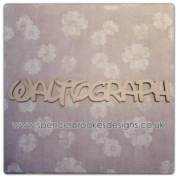 Waltograph - Laser Cut Letters / Chains