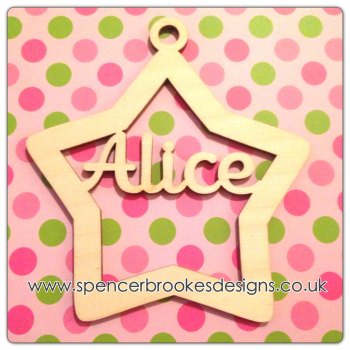 Personalised Christmas Star Bauble - 0114