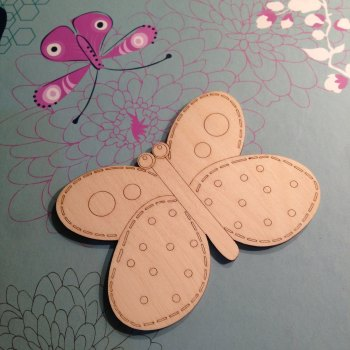 Beautiful Butterfly with Stitch Details - 0161