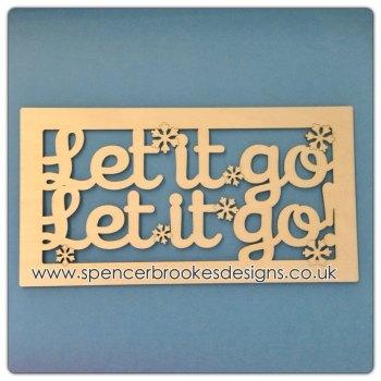 Let It Go Framed Wooden Plaque - 0165