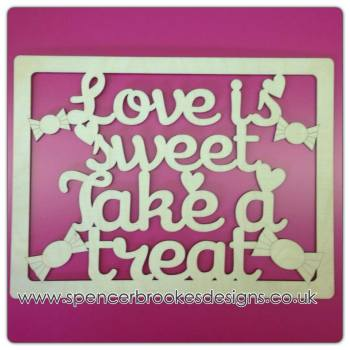 Love Is Sweet Framed Plaque - 0167