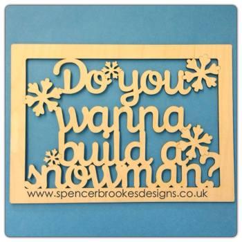 Do You Wanna Build A Snowman Framed - 0168