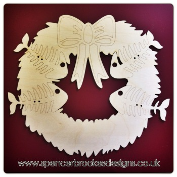 Laser Cut Pets Christmas Wreath Cats or Dogs - 0166