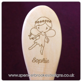 Personalised Wooden Hair Brush - SMALL - 0011