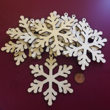 Laser Cut Wooden Snowflakes - 0112