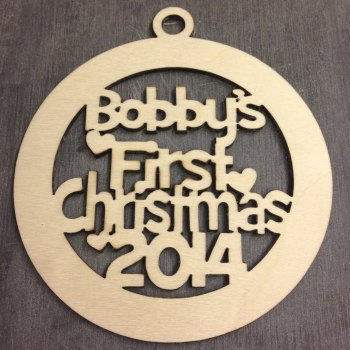 Baby's First Christmas Bauble - PERSONALISED - 0098