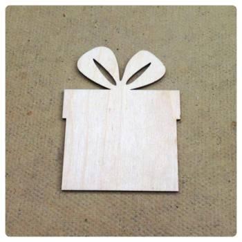 Laser Cut Present/Gift Shape Decoration - 0111