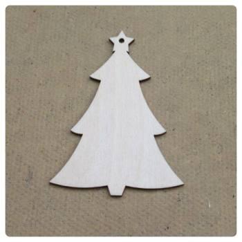 Laser Cut Christmas Tree Shape Decoration - 0110