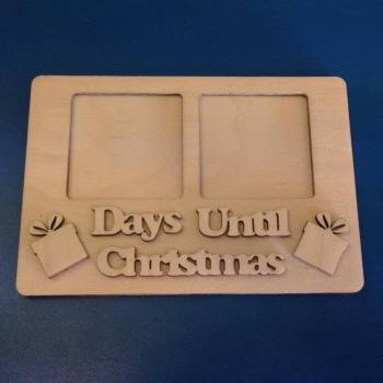 Days Until Christmas Countdown Chalkboard - Ready to Paint - 0123