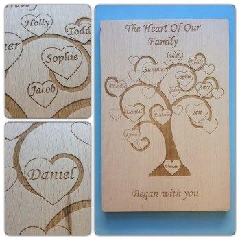 Beautiful Engraved Family Tree - 0208