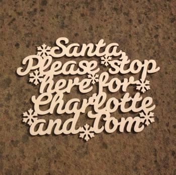 Santa Please Stop Here For.. Unframed - 0211