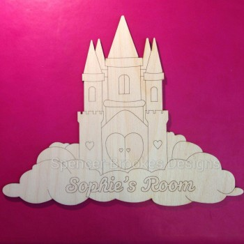 Laser Cut Castle Name Plate